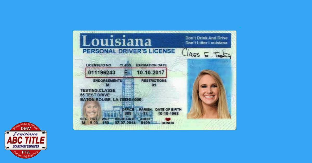 louisiana personal drivers license - ABC Title