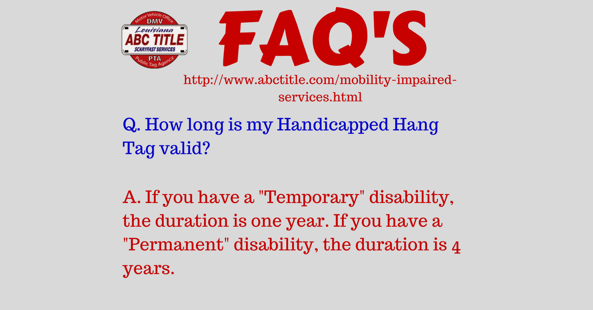 Mobility impaired services in louisiana - ABC Title