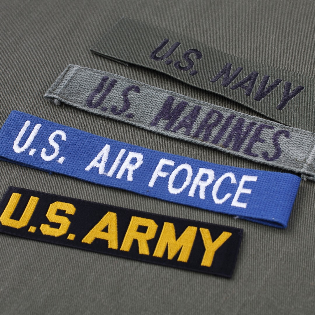 US navy, marines, air force and army tag - ABC Title
